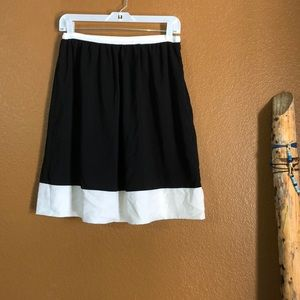 Calvin Klein Black and White A Line Skirt